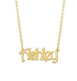 Gouden naamketting model Ashley