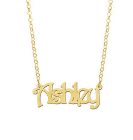 Naamcollier Gouden naamketting model Ashley