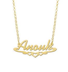 Gouden naamketting model Anouk