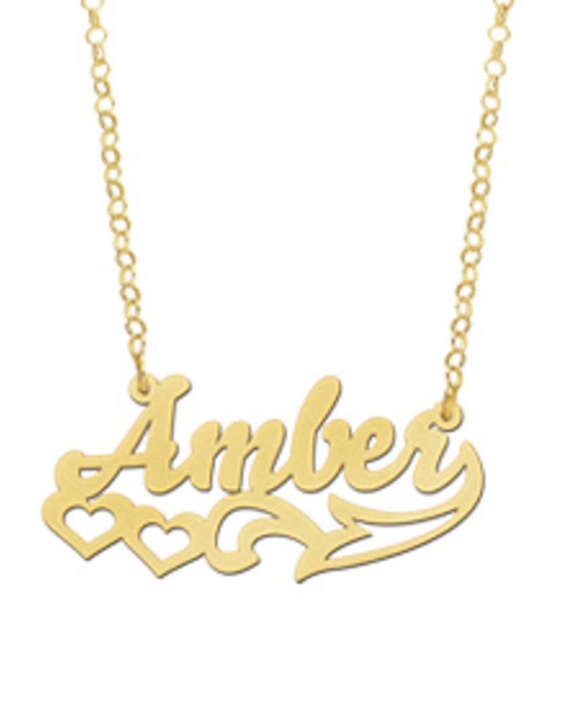 Gouden naamketting model Amber