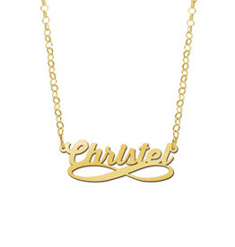 Naamcollier Gouden naamketting model Christel