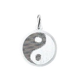Zilveren plaatje - Yin Yang