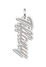 Zilveren naamhanger model 'Tiffany'