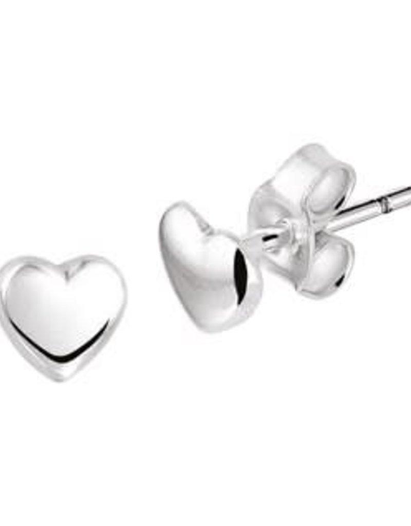 Zilveren oorknoppen - Hart