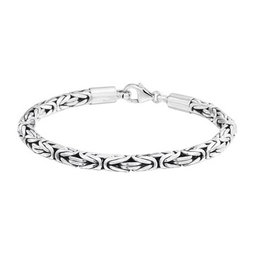 Kasius Zilveren heren armband - Geoxideerd - 21 cm