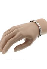 Zilveren heren armband - Geoxideerd - 21 cm