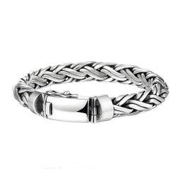 Zilveren heren armband - 19 cm - 10 mm