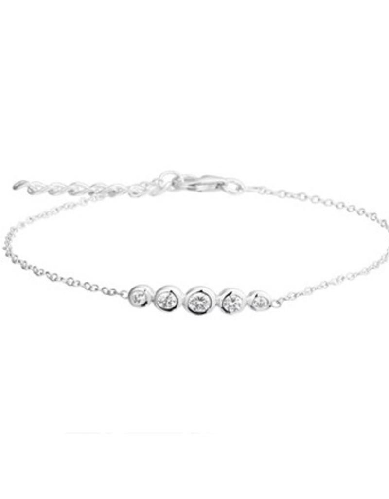 Zilveren tennis armband - Zirkonia