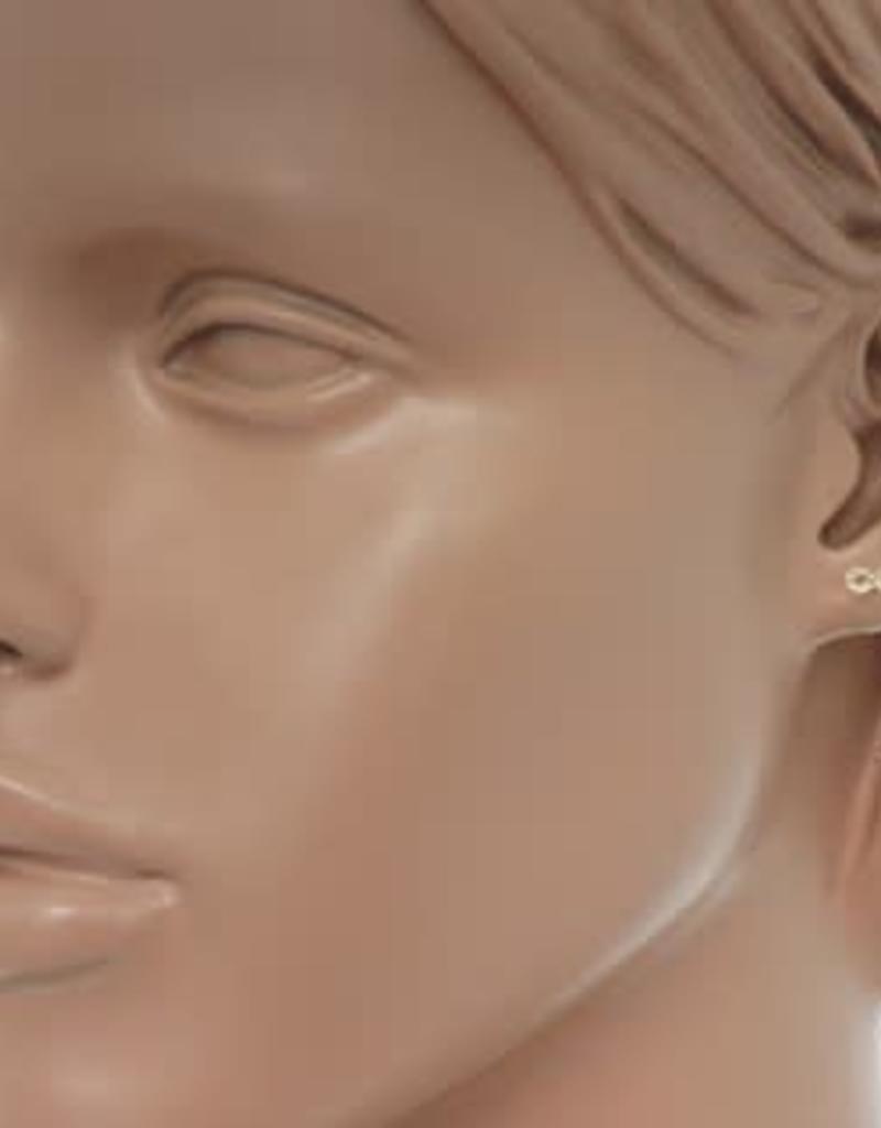 Gouden oorknoppen - Infinity - Zirkonia