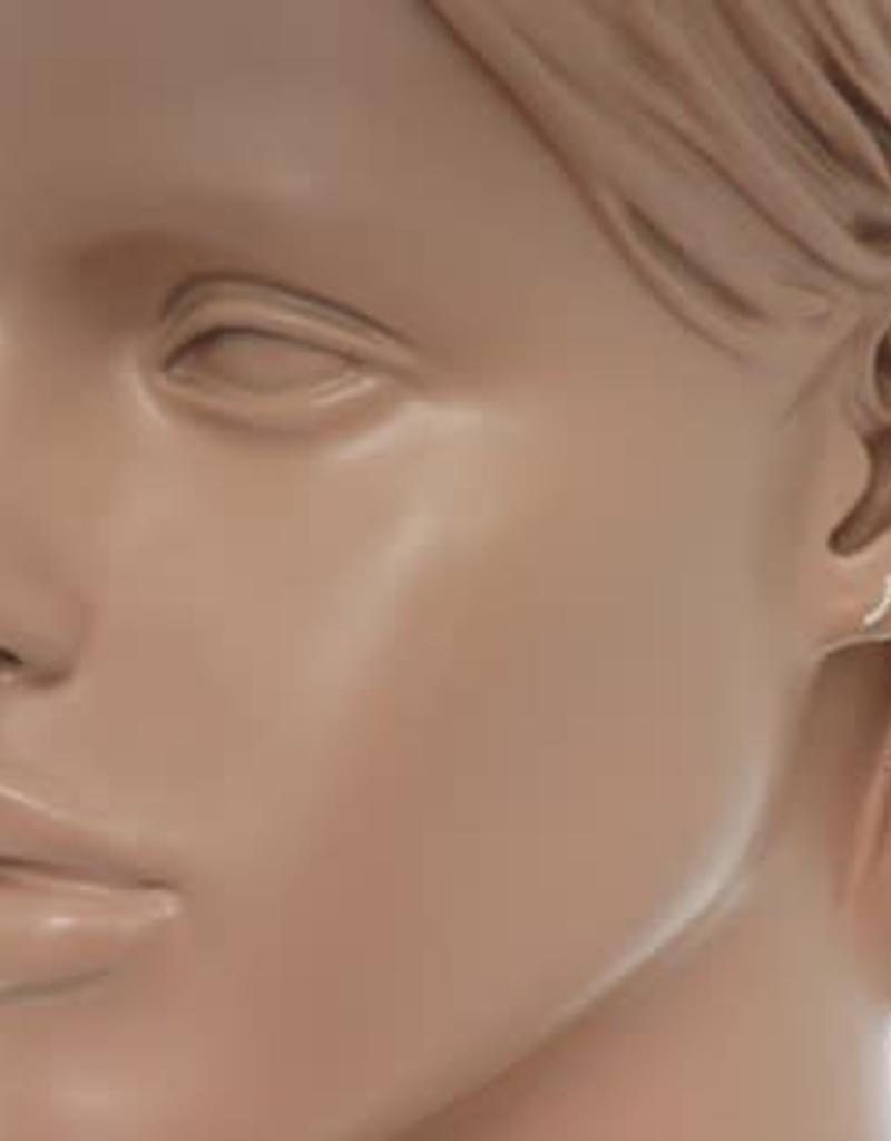 Gouden oorknoppen - Zirkonia