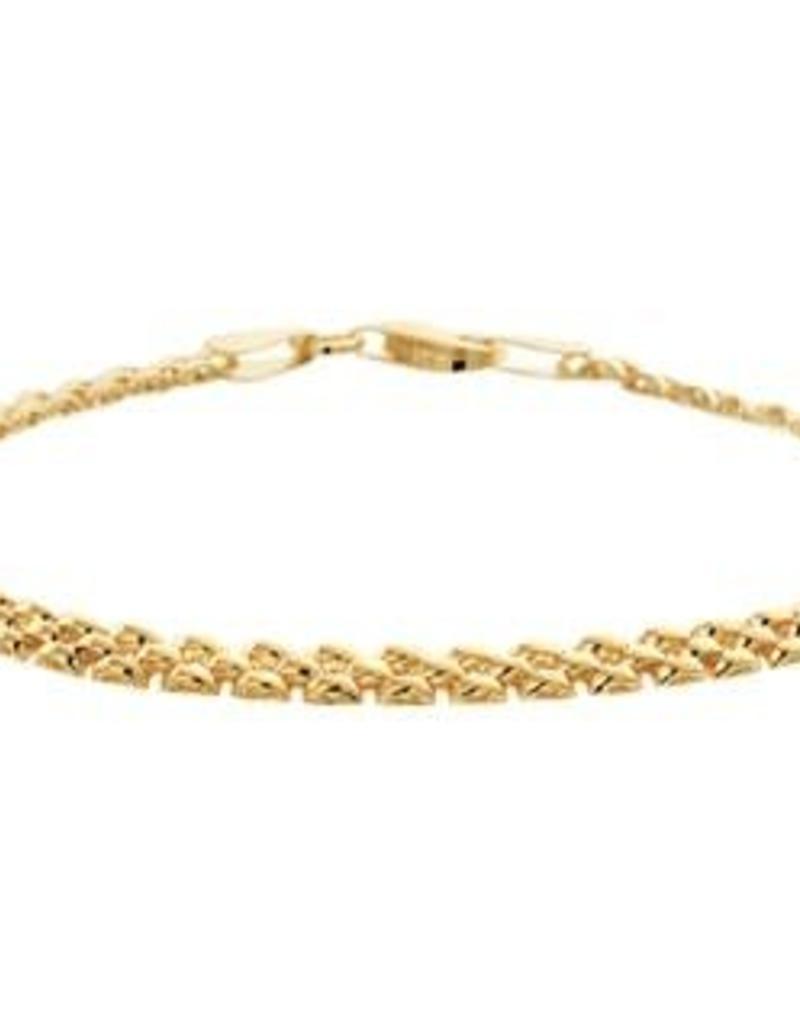 Gouden armband - 14 karaats - 19 cm - 3 mm