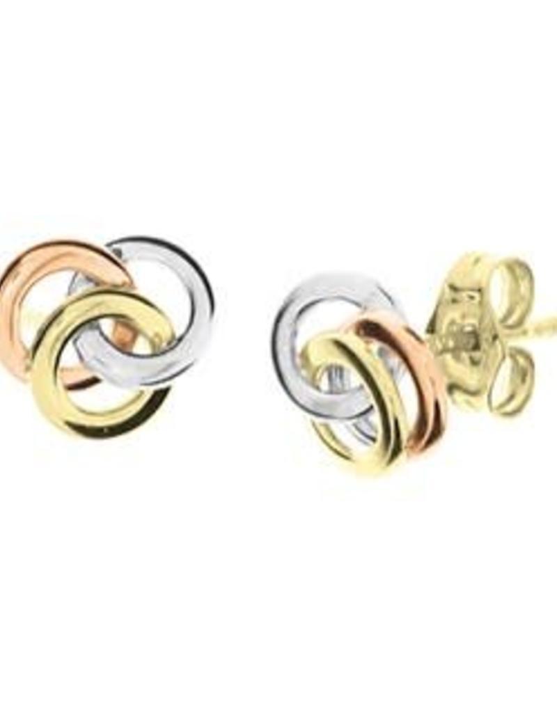 Gouden oorknoppen - Tricolor