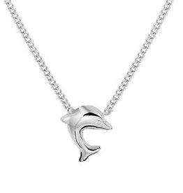 Zilveren kindercollier - Dolfijn - 36 + 3 cm