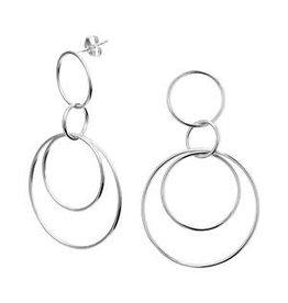 Zilveren oorhangers - Ringen