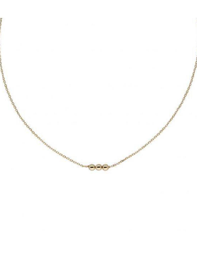 van Leeuwen Gouden collier - Bolletjes - 42 cm