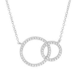 Zilveren collier - Zirkonia