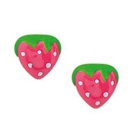 Zilveren aardbeien oorknoppen