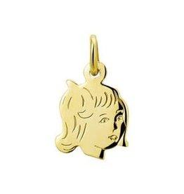 Gouden kinderkopje - 14 karaats - Meisje