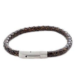 Thomss Thomss - Leren armband - 6mm - Bruin