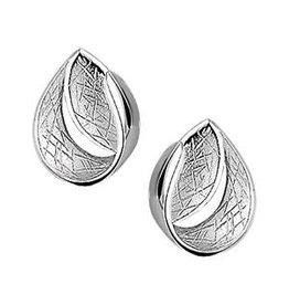 Zilveren oorbellen - Mat/glanzend - Gekratzt