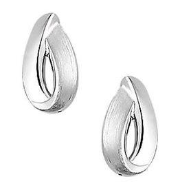 Zilveren oorbellen - Gerhodineerd - Mat/glanzend