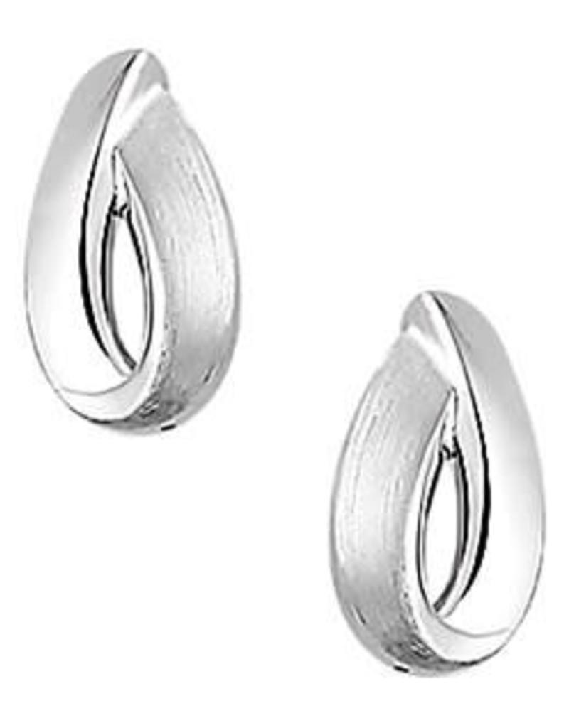 Zilveren oorbellen - Mat/glanzend