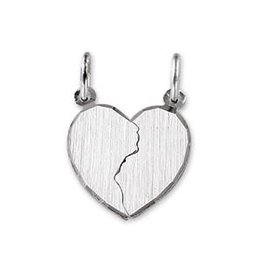 Kasius Zilveren hanger - Breekhartje - Gerhodineerd