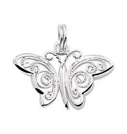 Kasius Zilveren hanger - Vlinder