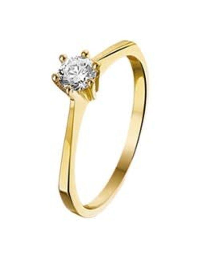 Gouden ring - Zirkonia