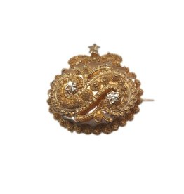 Occasions by Marleen Occasions by Marleen - Gouden S broche