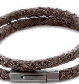 Thomss Thomss - Leren armband - Bruin