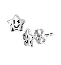 Zilveren oorknoppen - Gerhodineerd - Ster