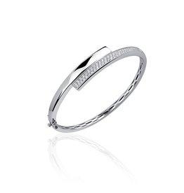 Gisser Zilveren Slavenband- Gerhodineerd - Zirkonia - 60 mm