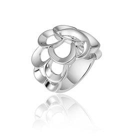 Gisser Zilveren ring - Gerhodineerd - Maat 56