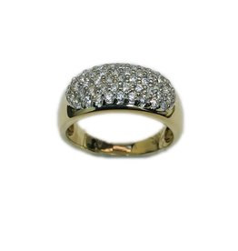 Occasions by Marleen Occasions by Marleen - Gouden pavé gezette ring - Zirkonia - Maat 17.5