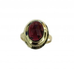 Occasions by Marleen Occasions by Marleen - Gouden ring - Amathist - Maat 18.25