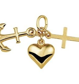 Occasions by Marleen Occasions by Marleen - Gouden hanger - Geloof, hoop en liefde