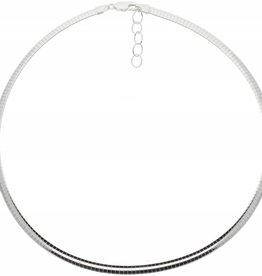 van Leeuwen Zilveren omegacollier - Halfrond 5.0 mm
