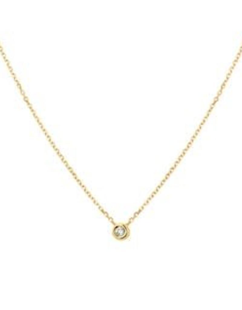 Gouden choker - 14 karaats - Diamant - 0.03 crt - 41 - 43 - 45 cm