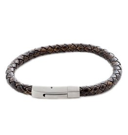 Thomss Thomss - Leren armband - 6mm - Bruin