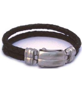 Thomss Thomss - Leren armband - 8mm - Zwart