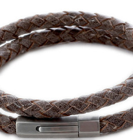 Thomss Thomss - Leren armband - Bruin