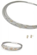 Yo Design Yo Design - Zilveren oorknoppen - Manhattan G
