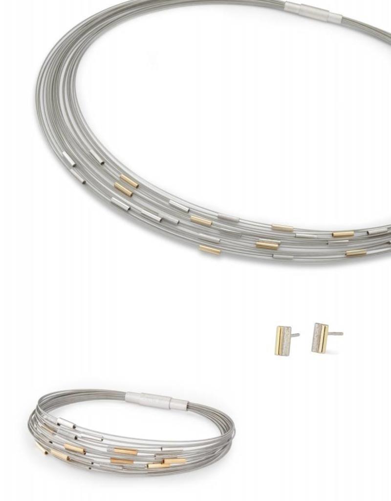 Yo Design - Zilveren spangcollier - Manhattan G