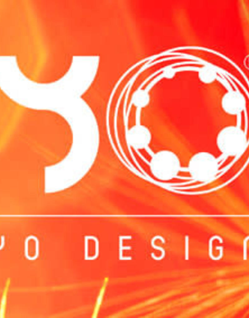 Yo Design Yo Design - Zilveren oorknoppen - Rain rose