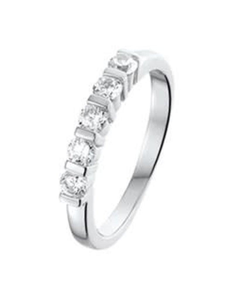 Zilveren ring - Zirkonia - Maat 18.5