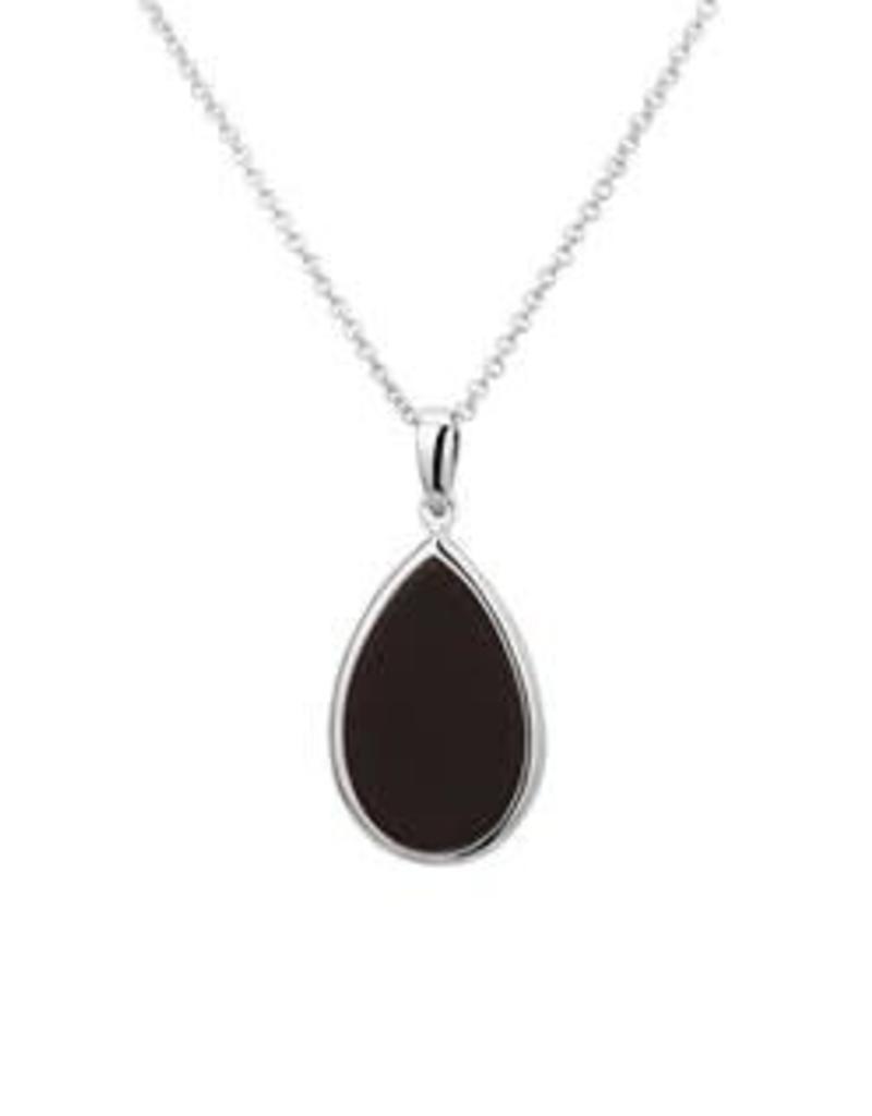 Zilveren collier - Onyx - 42 + 3 cm