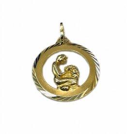 Occasions by Marleen Occasions by Marleen - 14 karaats - Gouden sterrenbeeld - Dubbelzijdig - Maagd