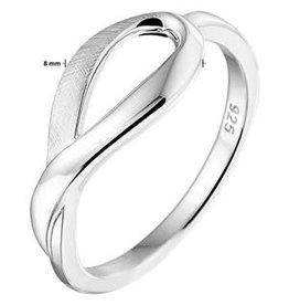 Kasius Zilveren ring - Mat/Glanzend - Maat 17.75