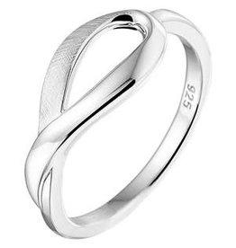 Zilveren ring - Mat/Glanzend - Maat 17.75